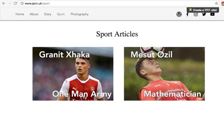 website blog arsenal football