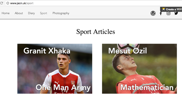 website blog arsenal football